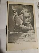 Rare Halloween Postcard W.b.porter 1905 Greetings From Old Witch City Salem Mass