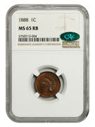 1888 1c Ngc/cac Ms65 Rb - Indian Cent