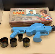 Vintage Marx Toys Flashy Flickers Picture Gun With Four Original Films