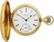 Vintage And Co 18k Yellow Gold 18568 New York Antique Pocket Watch Running