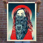 Obey Giant Just Future Rising Signed And Numbered Print In Hand Ships Now