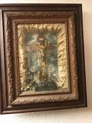 Rare Antique 1877 Catholic Crucifix And039tools Of The Passionand039 Shadow Box Wall Art
