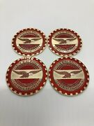 Zenith 2.25 Metal Chip Emblem Original Style Candy Red W White Head And Gold