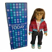 American Girl Doll Of Today 3 Blonde Hair Bangs Blue Eyes W/ Box Ready For Fun