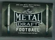 2021 Leaf Metal Draft Football Factory Sealed Hobby Box Trevor Lawrence And Others