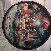Russian Hand-painted Collector's Plates Fairy Tale Second Plate In Series 1984