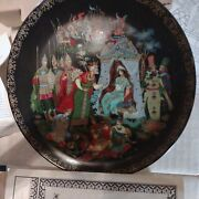 Russian Porcelain Collector Plates And Painted Gold 1984 Fairy Tale Series