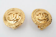 Coco Mark Round Earring 24 Gold P0752