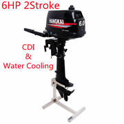 Heavy Duty 6hp Outboard Motor 2stroke Boat Engine W/ Water Cooling System And Cdi
