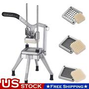 3 Blades Stainless Steel French Fry Cutter Potato Vegetable Slicer Chopper New