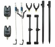 Fishing Bite Alarms Sets Buzz Bars Swingers Rods Rest Heads Set With Tackle Bag