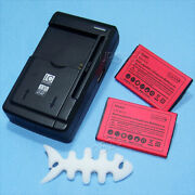 2x 1200mah Battery+universal Charger+winder For Lg Cosmos 3 Vn251s Verizon Phone
