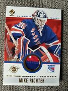 Mike Richter 2002 Pacific Stock Authentic Jersey Patch Variationandnbsp