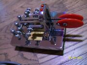 Vintage Vibroplex Keyer 4337 With Cord Morse Code Telegraph Untested