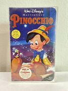 Pinocchio Masterpiece Vhs 1993 - New And Sealed - Disney