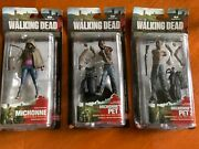 3 Walking Dead Series 3 Figures Michonne And Pet Zombies 1and2 Mcfarlane Toys
