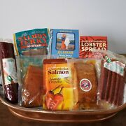 Alaskan Gift Basket. Meat And Seafood 8 Items