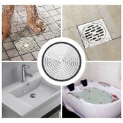 Home Stainless Steel Shower Drain Hair Catcher Trap Mesh Grips Drain Protector+w