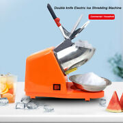 300w Electric Ice Shaver Ice Shaved Machine Commercial Ice Crusher 143lbs Orange