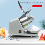 300w Electric Ice Shaver Ice Shaved Machine Commercial Ice Crusher 143lbs Silver