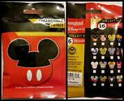 Disney Collectible Pin Pack Mickey Head Ears Mystery Bag Of 5 Pins Sealed - New