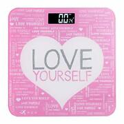 Ndn Line Digital Bathroom Scale Positive Message Pink For Teeangers And Women