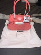 Brand New With Tags Women's Moschino Inside Out Quilting Pink Handbag