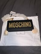 Brand New With Tags Women's Moschino Handbag With Logo And Charm