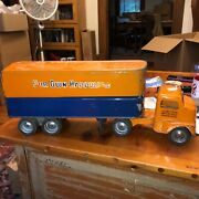Vintage 1953 Tonka Toy Transport Semi Truck And Trailer Our Own Hardware 23andrdquo Good