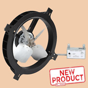 Gable Mount Attic Fan Automatic 1380 Cfm 120v 3 Amps Home Thermostat Control New