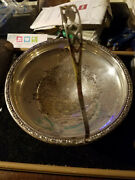 M Sterling Silver Ornate Handled Compote Candy Dish 698