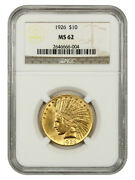 1926 10 Ngc Ms62 - Indian Eagle - Gold Coin - Great Type Coin
