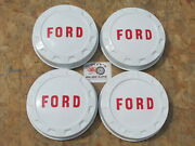 1961-65 Ford 3/4 Ton Pickup Truck Painted Poverty Dog Dish Hubcaps Set Of 4