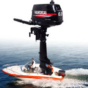 6 Hp 2 Stroke Outboard Motor Fishing Boat Marine Engine Water-cooled Cdi System