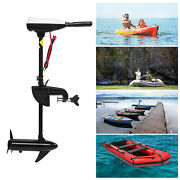 12v/55lbs Electric Outboard Motor Boat Engine With Black Propeller