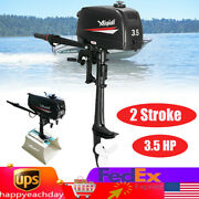 2 Stroke 3.5hp Heavy Duty Outboard Motor Boat Engine+cdi Ignition System Andtiller