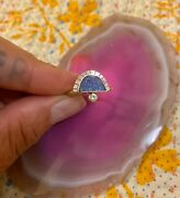 Young In The Mountains Solstice Azurite Diamond Gold Sterling Silver Ring 7 1