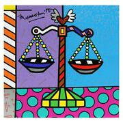 Britto Libra Hand Signed Limited Edition Giclee On