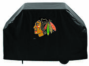 Chicago Blackhawks Hbs Black Outdoor Heavy Duty Breathable Vinyl Bbq Grill Cover