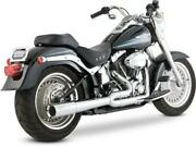 Vance And Hines Pro Pipe 2-into-1 Full Exhaust System Chrome 17547 Harley Davidson