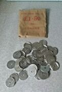 Pack Of 50 National Transport / Bus Tokens- 3p- Early 1970s- Original Bag