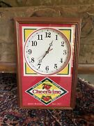 Cheerwine Clock In Mint Condition No Scratches Or Stains