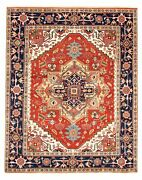 Vintage Hand-knotted Carpet 8'0 X 10'0 Traditional Dark Copper Wool Area Rug