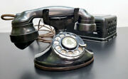 Antique 1930and039s Western Electric Model 202 D1 Telephone + E1 Handset + Ringer Box