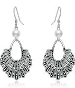 Sisgem Rbg Dissent Collar Earrings With Pearls925 Sterling Silver Ruth Bader...
