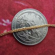 14k 585 Pure Gold Bracelet. Real Gold Wheat Chain 7 18cm | See Video | New