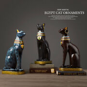 Egyptian Cat Resin Craft Vintage Home Decor Figurine Statue Table Ornaments Gift