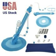 Automatic Swimming Pool Cleaner Clean Inground Above Ground Pool Vacuum Hose Set