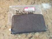 Thirty-one All About The Benjamins Wallet With Wristlet-city Charcoal