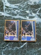 92-93 Fleer Shaquille Oneal 401 Rookie Rc Invest Two Card Lot Lakers , Magic